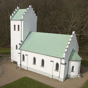 Flygfoto av Mölle kapell - ARROWCAM